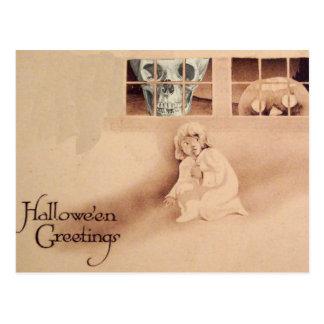 Wrong Shoulder... Skull Jack O Lantern Monster Postcard