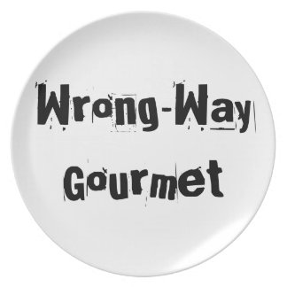 Wrong-Way Gourmet products from TroubleShooter Dinner Plates
