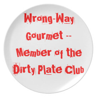 Wrong-Way Gourmet products from TroubleShooter Party Plate