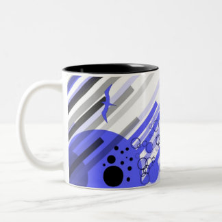 Wrong Way.... Two-Tone Coffee Mug