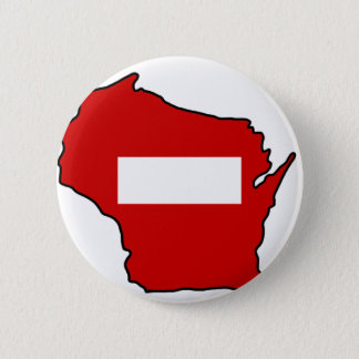 wrong way Wisconsin 2 Inch Round Button