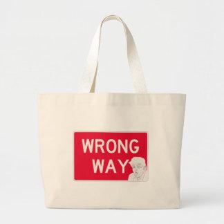 wrongway-trump2 jumbo tote bag