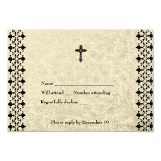 Wrought Iron Celtic Cross rvsp Card