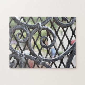 Wrought Iron Gate Upper West Side New York NYC Jigsaw Puzzle