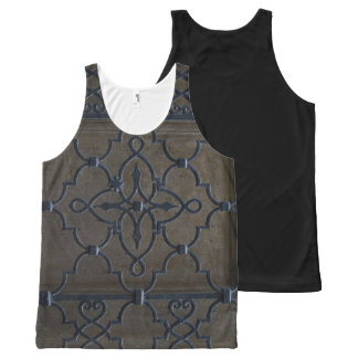 wrought iron grid vintage architectural metal deta All-Over-Print tank top
