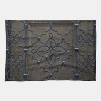 wrought iron grid vintage architectural metal deta kitchen towel