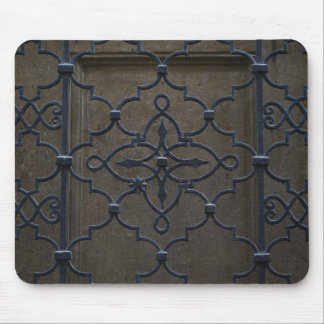 wrought iron grid vintage architectural metal deta mouse pad