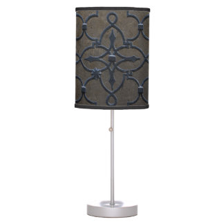 wrought iron grid vintage architectural metal deta table lamp
