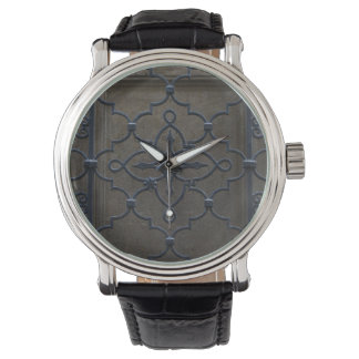wrought iron grid vintage architectural metal deta watch