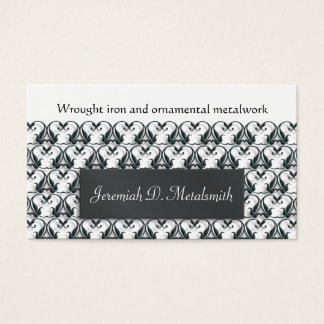 Wrought iron metalwork business card