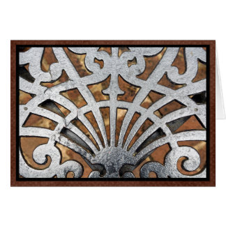 Wrought iron pattern card