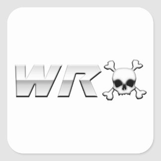 WRX with Scull Square Stickers
