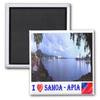 WS - Samoa - Apia Harbour - I Love Magnet