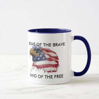 WSCUS015, LAND OF THE FREE, HOME OF THE BRAVE MUG