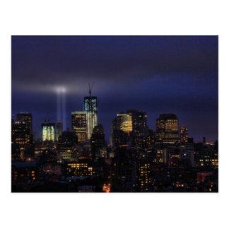 WTC Tribute in Light - 9/11/2011 at twiight Postcard