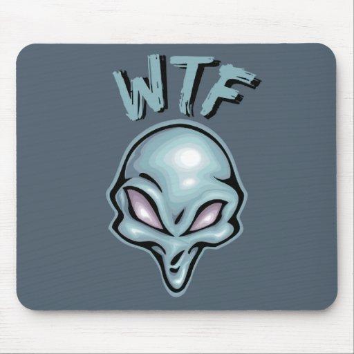 WTF Alien Mouse Pad