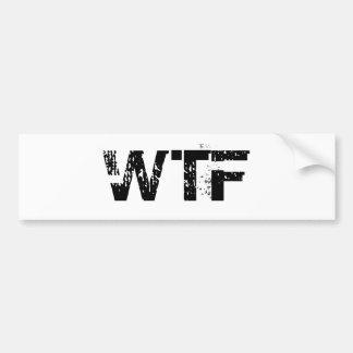WTF Bumper Sticker