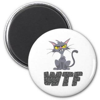 WTF CAT BLACK MAGNET