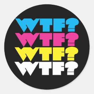 wtf? classic round sticker