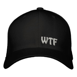 WTF Embroidered Baseball Hat Flexfit Wool Cap Embroidered Hat