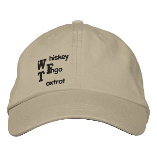 WTF EMBROIDERED HAT