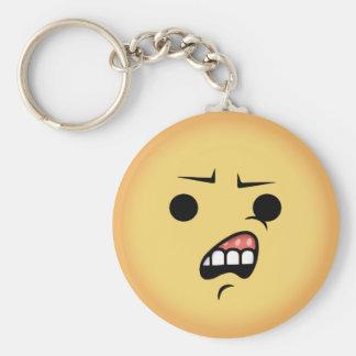 WTF Emoji Basic Round Button Keychain