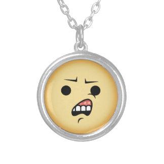 WTF Emoji Silver Plated Necklace
