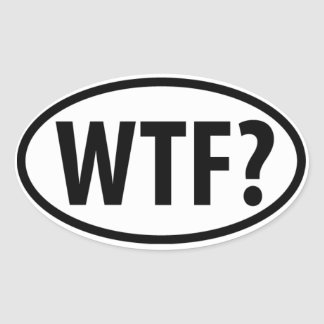 WTF? Euro Style Car Emblem Oval Sticker
