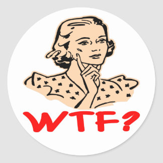 WTF Retro Classic Round Sticker
