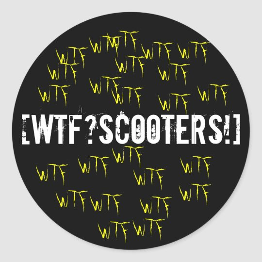 [WTF?scooters!] Sticker