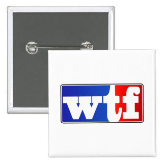 WTF Sports Fan 2 Inch Square Button