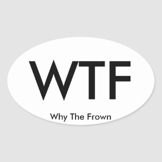 WTF travel sticker (sheet of 4)
