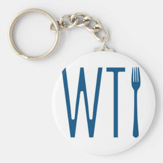 WTF - What The Fork Humor Merchandise Keychain