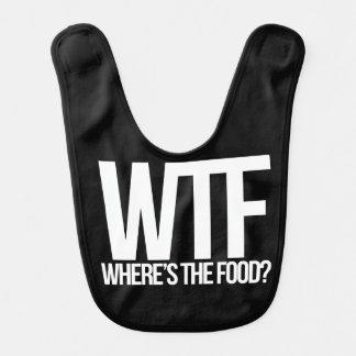 WTF where's the food Baby Bib