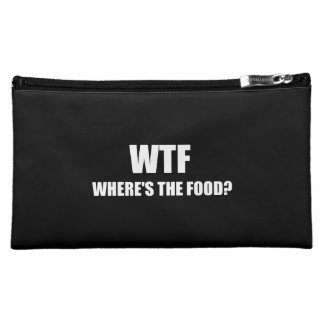 WTF Wheres The Food Cosmetic Bags