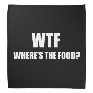 WTF Wheres The Food Do-rags