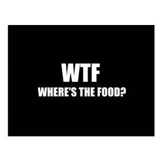 WTF Wheres The Food Postcard