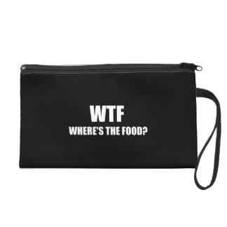 WTF Wheres The Food Wristlet Purses