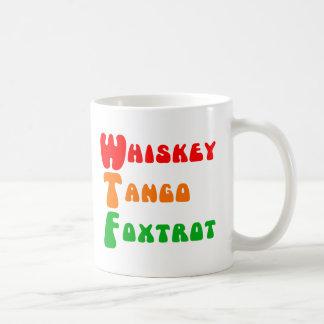 WTF Whiskey Tango Foxtrot fun acronym lettering Classic White Coffee Mug