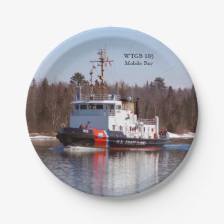 WTGB 103 Mobile Bay paper plate