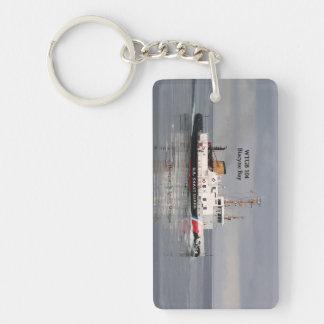 WTGB 104 Biscyne Bay rectangle acrylic key chain