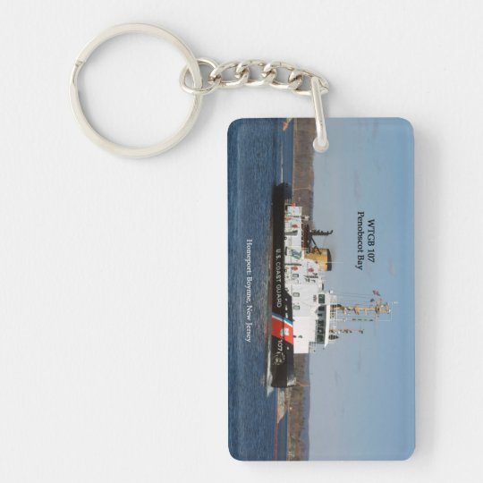 WTGB 107 Penobscot Bay rectangle acrylic key chain