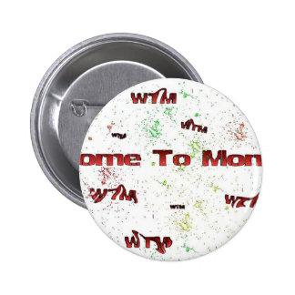 WTM Logo Paint Splatter 2 Inch Round Button