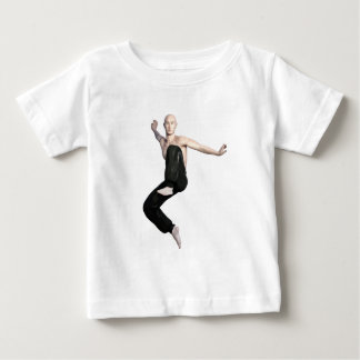 Wu Shu Form about to kick to the front Baby T-Shirt