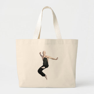 Wu Shu Form about to kick to the front Large Tote Bag