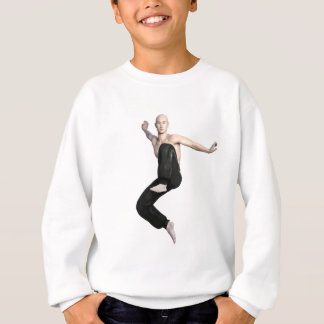 Wu Shu Form about to kick to the front Sweatshirt