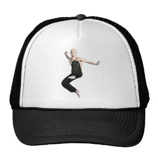 Wu Shu Form about to kick to the front Trucker Hat