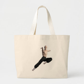 Wu Shu Form coming down to the front Large Tote Bag