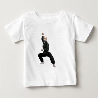 Wu Shu form with squat Baby T-Shirt