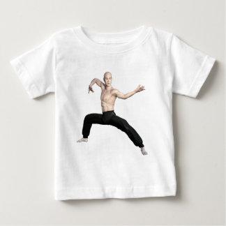 Wu Shu Squat Form Looking Left Baby T-Shirt